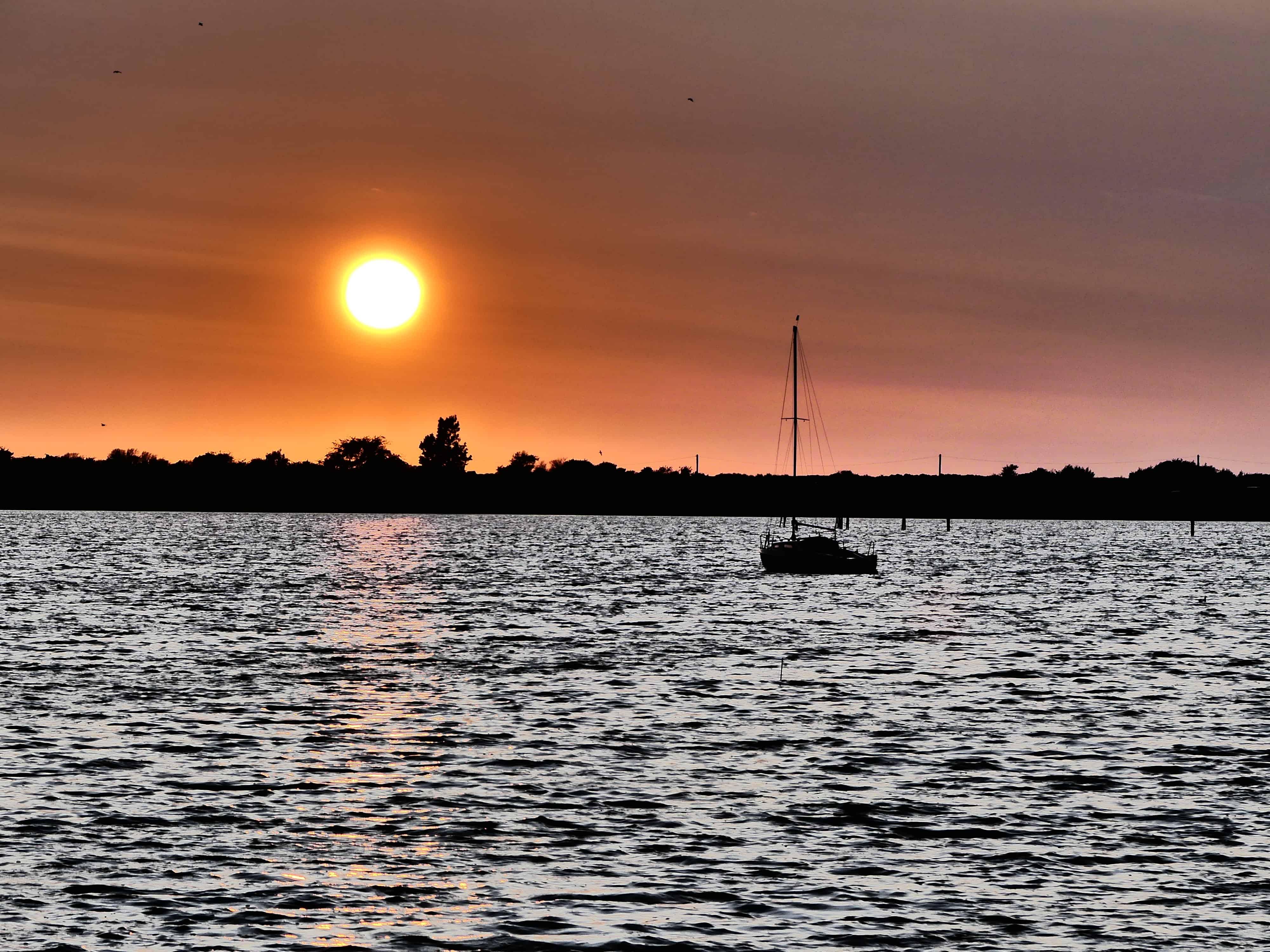 Ostseebad Rerik Bilder - Sonnenuntergang über dem Salzhaff