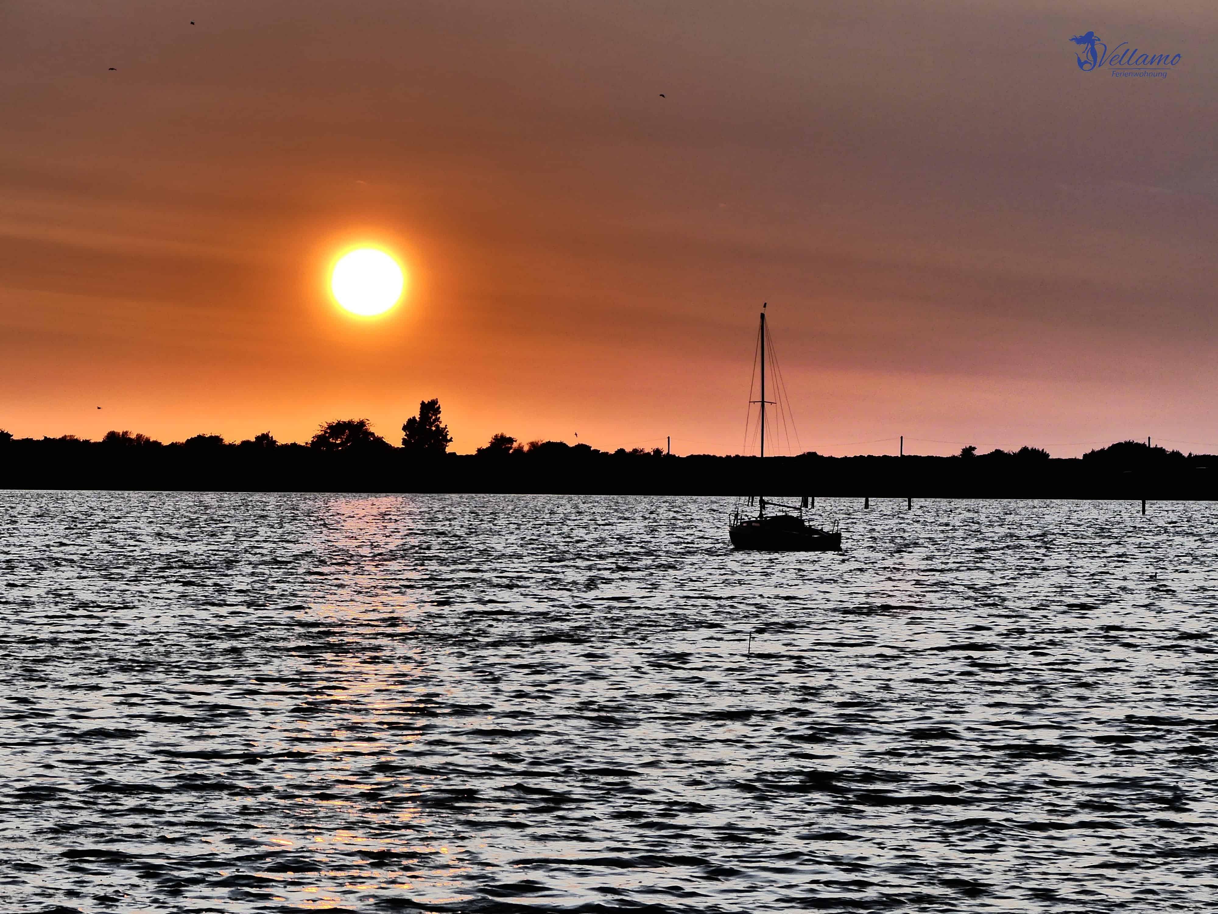 Ostseebad Rerik - Sonnenuntergang über dem Salzhaff